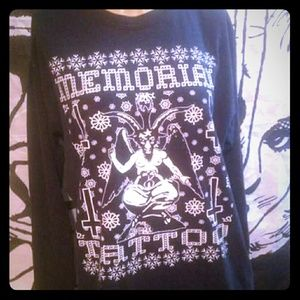 Tops - Gothic baphomet occult shirt
